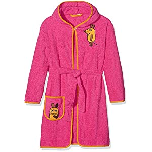 Playshoes Mädchen Frottee Maus Bademantel, Rosa (pink 18), 122/128