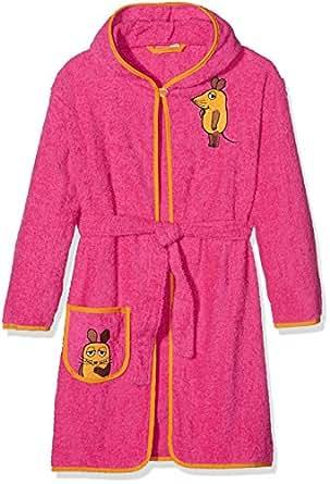 Playshoes Mädchen Bademantel Frottee DIE MAUS, Gr. 98 (Herstellergröße: 98/104), Rosa (pink 18)