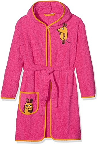 Playshoes Mädchen Frottee Maus Bademantel, Rosa (Pink 18), 98/104