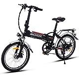 ANCHEER Elektrofahrrad Faltbares E-Bike, Klapprad mit 250W Hochgeschwindigkeits-Bürstenlose Motor, 36V Große Kapazität Lithium-Akku und Shimano Zahnrad (14 inch/ 20 inch/26 inch)