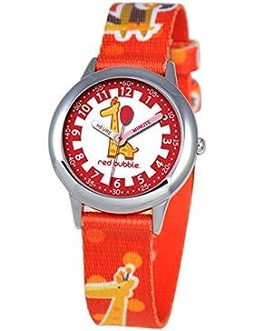 Red Bubble-W002063, Lehr-Armbanduhr analog Stoff, mehrfarbig