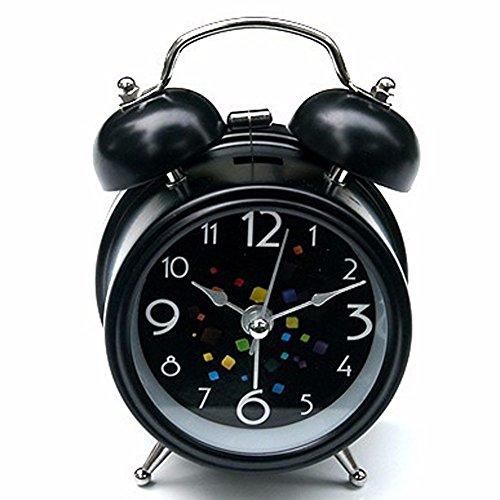 ZHGI Indicatore di allarme multifunzionale mute orologio creativi pigri,Nero