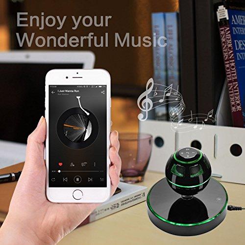 Altavoz Bluetooth, UPPEL Altavoces Portatiles, Parlantes Bluetooth Portatil con Bluetooth 4.0, Rotación de 360 Grados, Botón de Control Táctil y LED Color Intermitente Magnético-(Negro)