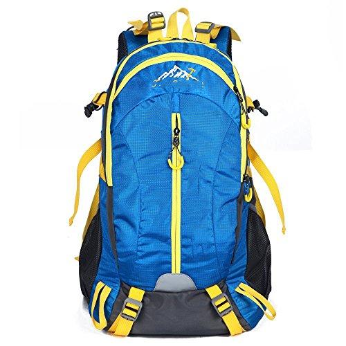 Il nuovo modo impermeabile borsa sportiva per il tempo libero all'aperto 40L dello zaino di alpinismo Ultralight ( colore : Rosso ) Cielo blu