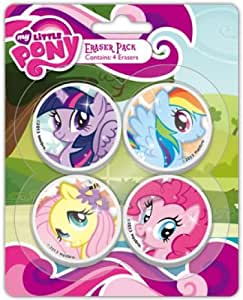 My Little Pony Lot de 4 Papeterie Character Gomme