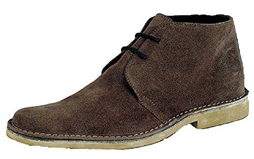 Roamer 2Eye piatto toe Desert stivali, Uomo, Dark Brown, 7