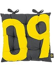BVB 09Borussia Dortmund 09Cuscini per mobili da giardino, nero/giallo, Taglia unica