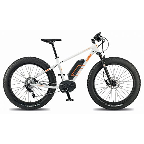 KTM Macina Freeze Plus Fatbike Bosch, eBike, weiß matt orange 2015 RH 43, 23,70 kg