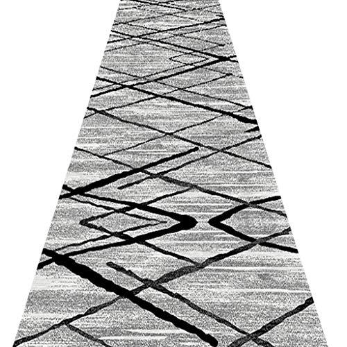 SESO UK- Nordic Teppich Läufer für Flur Treppen, Abstrakt kommerziellen Haushalt Hotel Halle Langen Teppich Runner (Size : 120×250cm)