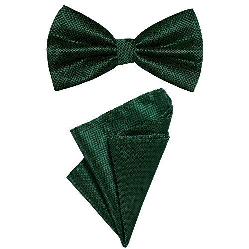 n Fliege und Einstecktuch farblich passend gebunden und größenverstellbar dunkelgrün (Grüner Mann Anzüge)