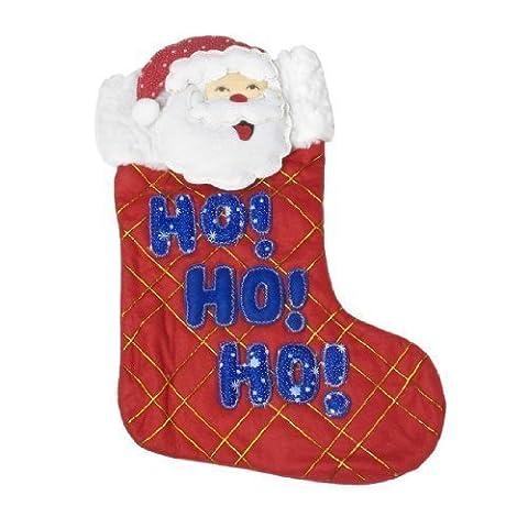 sourcingmap® Weihnachtsmann Design Baum hängen Ornament Rot Filz Weihnachten Strumpf de