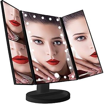 1x 2x 3x Magnifying Travel Vanity Mirror Light Makeup