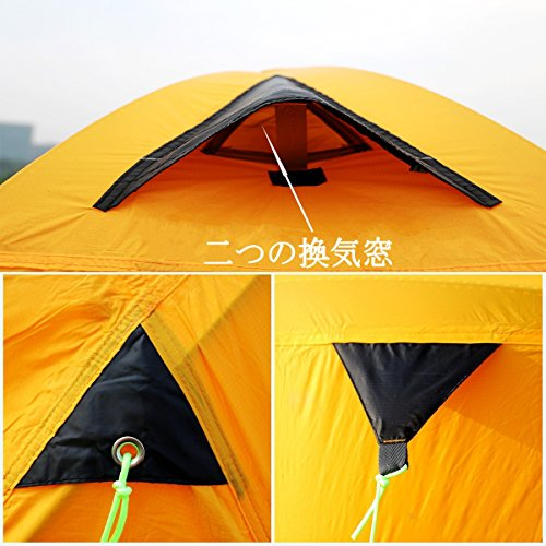 geertop 2 person 3-4 season lightweight backpacking alpine tent for camping hiking climbing travel