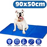 AMZPET Dog Self Cooling Mat Large - Gel Pad Accessories to Help Your Pet Stay Cool this Summer and Reduce Joint Pain - Great for floor or bed while travel or home