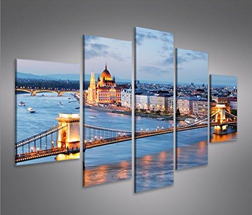 Bild Bilder auf Leinwand Budapest MF XXL Poster Leinwandbild Wandbild von islandburner - art up your life ® Budapest-bild