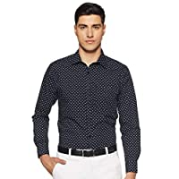 Diverse Men's Printed Regular fit Formal Shirt (DCMFF02RC09L03-768_Navy 40)