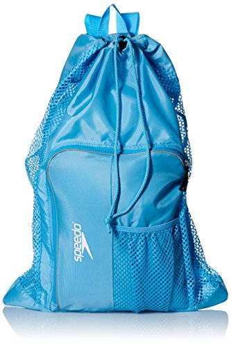 Speedo Deluxe Ventilator Mesh Equipment Bag, Blue Grotto
