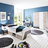Komplett Jugendzimmer Set LEEDS-10 ● mit Kleiderschrank