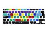 Wayes - española Adobe Photoshop PS atajos tapa del teclado Cubierta del teclado para MacBook Pro 13' 15' 17' & Air 13' MacBook Pro 13 15 Retina, EU/ISO Disposición Silicone / Silicona Skin