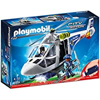Playmobil Polizei-Helikopter con LED-Suchscheinwerfer
