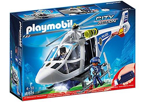 Playmobil Polizei-Helikopter with LED-Suchscheinwerfer