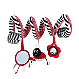 JER Bed Stroller Hanging Cribs Toy Cute Plush Spiral Soft Toys Hanging Rattle Toy Ladybug