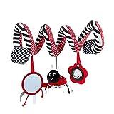 NiceBird Marienkäfer-Spielzeug zum Aufhängen, niedliches Plüsch-Spiral-Aktivitäten, multifunktionales Baby-Kinderwagen-Spielzeug zum Aufhängen, Rassel