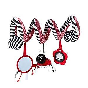 TYY-guang Marienkäfer-Bett-hängende Cribs Toy Nette Plüsch-Spirale Aktivität Multifunktions-Spaziergänger Plüsch-hängenden Geklapper Geschenk