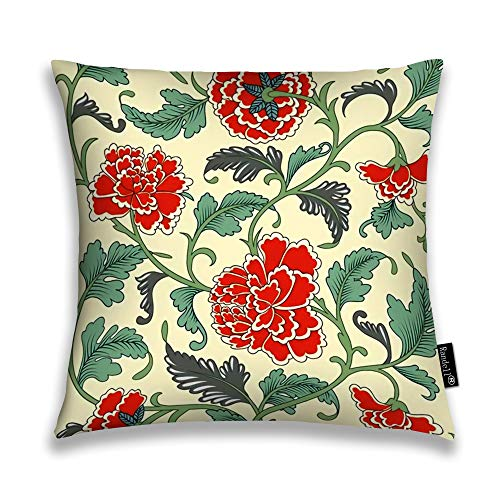 Randell Decorative Throw Pillow Case Ornamental Colored Antique Floral New Living Room Sofa Car Decorative Throw Pillow Case Cushion Cover 20