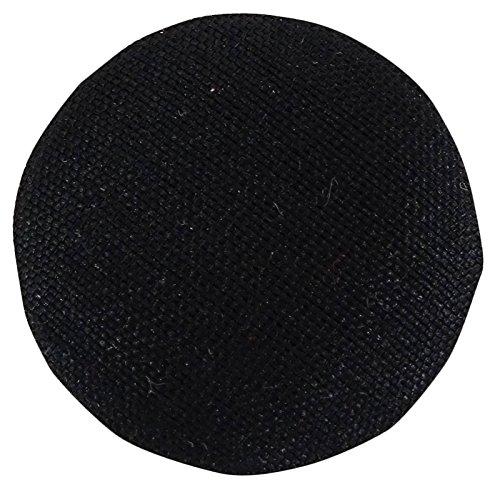 IBA WITH WORD INDIANBEAUTIFULART Runde 2 Loecher Schwarz Feste Poly Dupion Stoff Bedeckt Mantel Anzug Button Craft Naehen-Pack von 12 Stueck -