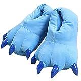 Houda - Zapatillas de estar por casa de algodón para hombre, color azul, talla L (40-45 EU)