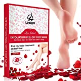 Leesgel 2 Pairs Foot Peeling Mask [ 100% without salicylic acid ], Exfoliating Callus Dead Skin Remover for Feet, Baby Your Foot Naturally in 1-2 Week - Rose Scented
