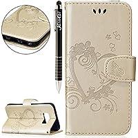 Galaxy S8 Plus Hülle,Galaxy S8 Plus Leder Brieftasche Hülle im BookStyle,SainCat PU Leder Wallet Case Lederhülle... preisvergleich bei billige-tabletten.eu