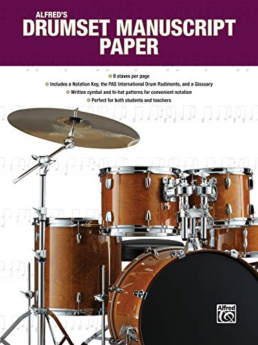 Alfred's Drumset Manuscript Paper (Alfred's Drum Method)
