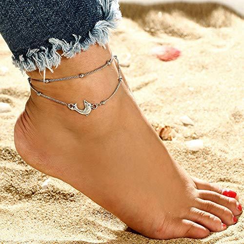 Bobopai Women Girls Ankle Chain Anklet Bracelet Foot Jewelry Sandal Beach - Bohemian Style Adjustable (P) -