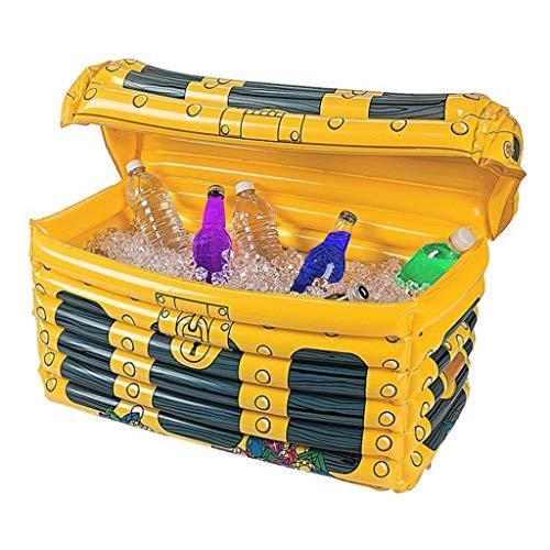 HCFKJ Eisbehälter für Eiswürfel, Holiday  Party  Bar  Supplies Pool ♡ PVC Inflatable Treasure Box ♡ Ice Bucket (Gelb, Summer)