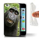 Stuff4 Coque Gel TPU de Coque pour Apple iPhone 5C / Selfie Babouin Design/Animal...