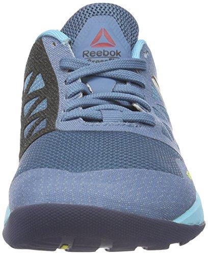 Reebok Crossfit Nano 6.0, Chaussures de Fitness Femme Bleu (Slate/Crisp Blue/Lemon Zest/Blue Ink/Pewter)