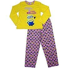 Minions - Pijama de Minions para niños amarillo 6-7 años