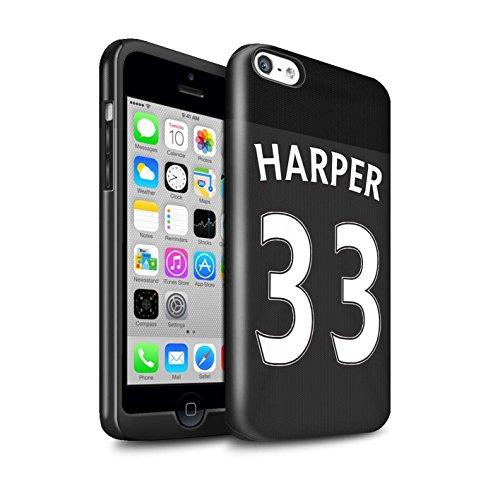 Offiziell Sunderland AFC Hülle / Glanz Harten Stoßfest Case für Apple iPhone 5C / Pack 24pcs Muster / SAFC Trikot Away 15/16 Kollektion Harper