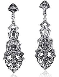 261c312e95a2 ArtiDeco 1920s Pendientes Vintage Crystal Flapper Accesorios Disfraces Gran  Gatsby