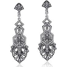 dd5b657f3410 ArtiDeco 1920s Pendientes Vintage Crystal Flapper Accesorios Disfraces Gran  Gatsby