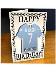 Serie A Italia–Italiano equipo de fútbol camisa imán Tarjetas de cumpleaños–personalización gratuita–cualquier nombre, cualquier número, cualquier colores., Italian-Serie-A, color S.S. Lazio FC Football Fridge Magnet Birthday Card, tamaño A5 Fridge Magnet Greeting Card