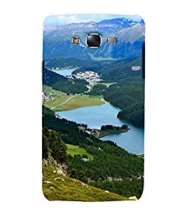 printtech Nature View Mountain Back Case Cover for Samsung Galaxy Core i8262 / Samsung Galaxy Core i8260