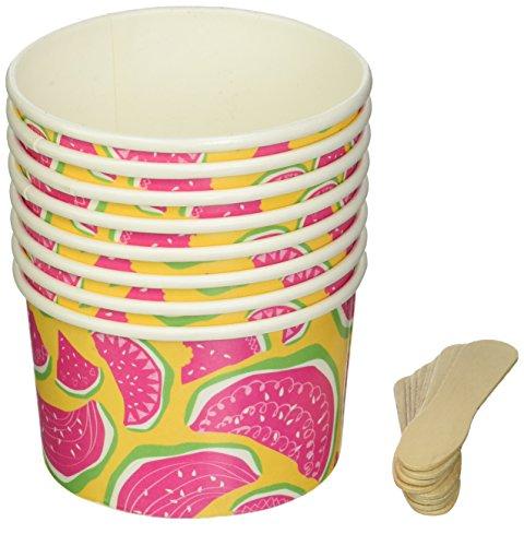 Ginger Ray Summer Fruits hängende Dekoration Fan Wimpelkette aus Papier, gelb Süßigkeiten-Tassen mehrfarbig (Gelb-eis-wanne)