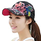 TININNA donne registrabile farfalla Cappello da baseball snapback di Berretto Cappello trucker Cappello di escursionismo moto Cap Nero