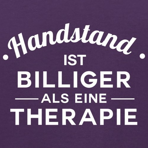 Handstand ist billiger als eine Therapie - Herren T-Shirt - 13 Farben Lila
