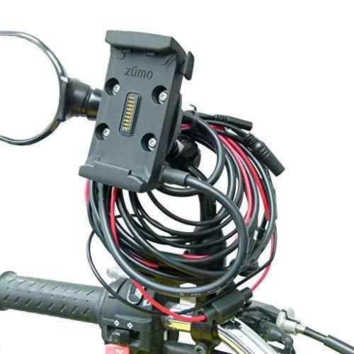 Buybits Cablaggio Cavo Alimentazione Moto Moto Motocicletta Supporto Specchietto per Garmin Zumo 590 595 per 8mm-16mm
