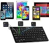 Navitech Noir Compatible avec Le Clavier sans Fil Bluetooth Multi OS avec Toutes Les tablettes Android/Windows & iOS, y Compris Medion Lifetab X10311