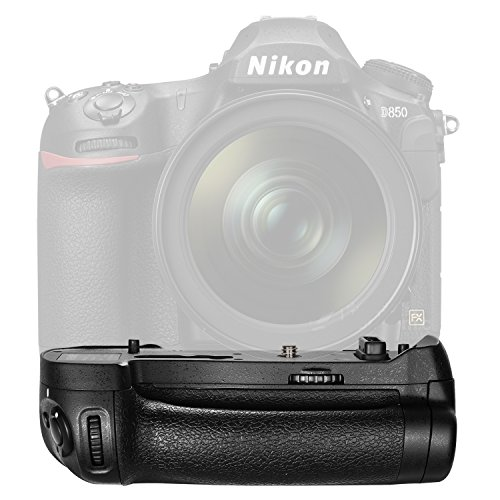 Galleria fotografica Neewer Impugnatura a Batteria Verticale Pro con Telecomando Wireless per Nikon D850, Utilizzo con 1 Batteria Ricaricabile EN-EL15A o EN-EL18B o 8 Batterie AA (Batteria non Inclusa)